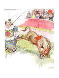 'The Clown Was So Silly Today - I Kicked Him Quite Hard'  Illustration from 'The Naughty Neddy…