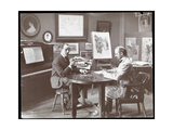 Michel Jacobs and Benson Playing Dominoes  1907