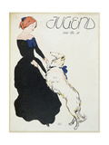 Lady with a Greyhound  Illustration from 'Jugend'  1906