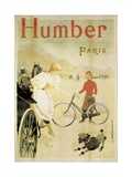 Poster Advertising 'Humber' Bicycles  1900