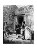 Franklin's Bookshop in 1745