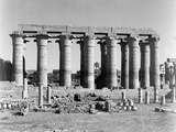 Lotus Columns  Luxor Temple  from an Album Containing 206 Photographs Compiled by Major WHJ…