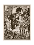 How Henry VIII Had the Monks Turned Out of the Monasteries  Illustration from 'A History of…
