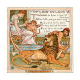 The Lion in Love  Illustration from 'Baby's Own Aesop'  Engraved and Printed by Edmund Evans …