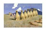 Seven Cornstooks in Upper Hungary  c1906