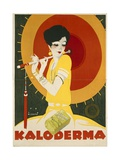 German Advertisement for 'Kaloderma' Soap  Printed by F Wolff and Sohn  Karlsruhe  1927