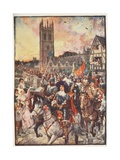 Prince Rupert at Oxford  Going to Battle  Illustration from 'A History of England' by CRL…