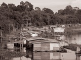 Floating Houses Were Still Seen Along Rivers in the Early 1980s