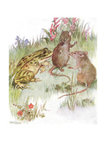 'Was Chatting with Pretty Miss Mouse'  Illustration from 'The Mischievious