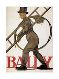 Poster Advertising 'Bally' Leather  1926