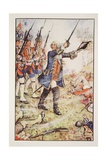 George II at Dettingen  1743  Illustration from 'A History of England' by CRL Fletcher and…