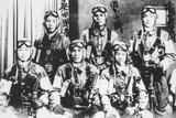 Japanese Kamikaze Pilots Holding Samurai Swords  1944-45