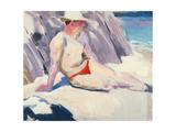 Sunbather on the Beach  Iona  1928