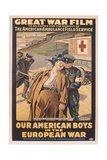 Poster Advertising the Film 'Our American Boys in the European War'