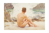 Charlie Seated on the Sand  1907