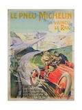 Poster Advertising 'Michelin Tyres are Faster Than Rail!'