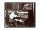 A Man Working in the Harrington Piano Co Factory  1907