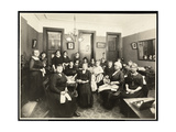 A Women's Sewing Circle at 157 East 94th Street  Upper East Side  New York  1920