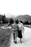 Prime Minister Antonio Segni on Holiday with His Wife  August 1959