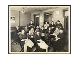 A Women's Sewing Circle at 115 East 101st Street  East Harlem  New York  1920