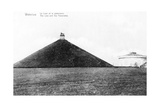 The Butte Du Lion (Lion's Mound) and the Panorama at Waterloo  Commemorative Postcard  c1912
