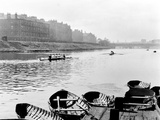 Rowing on the Clyde at Glasgow Green  1955