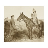 General Joffre and Lord Kitchener Meeting General Baratier on Horseback During the First World…