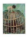 Tom and the Lobster Pot  Illustration from 'The Water Babies' by Reverend Charles Kingsley