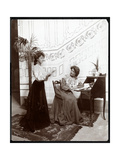 Two Female Stage Hands on a Stage Set  Acting  New York  1904