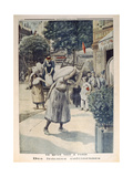 Women Carrying Sacks of Flour During the 1st World War in Paris  Illustration from 'Le Petit…