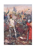 The Surrender of John II of France at the Battle of Poitiers  Illustration from 'British Battles…