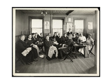 A Women's Sewing Circle at the Amelia Relief Society  115 East 101st Street  East Harlem  New…