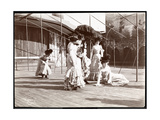 Five Actresses in Costume Rehearsing on the Roof of What Is Probably the New York Theatre  New…