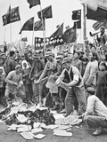 Land Reform in Communist China - the Burning of Official Documents  Shanghai  1951