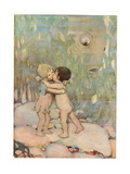 Tom and Ellie  Illustration from 'The Water Babies' by Reverend Charles Kingsley