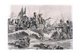 The Landing of the British Troops in Aboukir Bay  Illustration from 'British Battles on Land and…