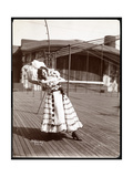An Actress in Costume Rehearsing on the Roof of What Is Probably the New York Theatre  New York …