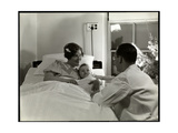 A Mother and Child in a Hospital Bed  New York  c1937