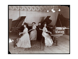 Four Women Seated at Pianos at the Estey Piano Corporation  1908