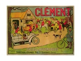Poster Advertising 'Cycles and Motorcars Clement'  Pre Saint-Gervais  1906