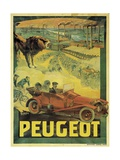 Poster Advertising Peugeot Cars  c1908