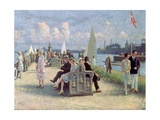People on a Promenade
