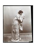 A Woman Modeling a Japanese Kimono  New York  1904