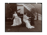 Two Women with a Piano and Recording Equipment  1907