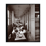 Women Working in a Filing Room  under Male Supervision  at the Metropolitan Life Insurance Co at…
