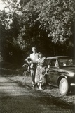 Anthony Green and a Cousin  Near the Forest of Chateauroux  France  1955