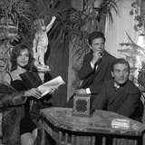Antonella Lualdi  Her Husband Franco Interlenghi and Pier Paolo Pasolini Celebrate the First Day…