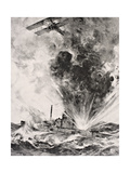 German Submarine Bombed and Sunk August 26 1915  from 'The War Illustrated