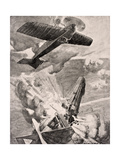 Flight Sub-Lieutenant Warneford Vc Bombs and Destroys Zeppelin Airship 1915  from 'The War…