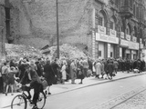 East Berliners Queueing in Front of a Currency Exchange Point in Invalidenstrasse  Berlin-Mitte …